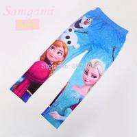 freeshipping!Children's Frozen Printing Leggings Girl's pants Children pants Pencil Pant Trousers,baby girl leggings pant