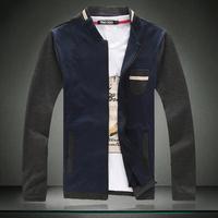New plus size  patchwork color individual casual soft jackets men autumn winter spring men jackets fashion Men's Coats >Jackets