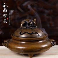 Antique burner copper  burner  stove burner plate tower incense sandalwood furnace daming xuande