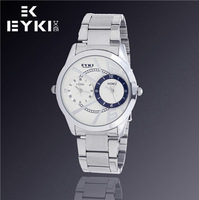 EYKI Hot Sell Men's Casual Fashion Brand Watches, Waterproof, Full Steel Quartz Watch, Free Shipping