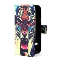 Fashion Tiger Design Flip Leather Skin Wallet Cover Case For Samsung Galaxy S5 Mini  New