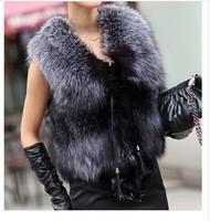2014 winter latest style big yards short paragraph plush fur vest waistcoat fur vest ladies vest-G038