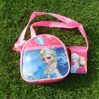 New 2014 Designer Frozen Character Messenger Bags girls School Cartoon Lunch Box for girls children Kids elsa bag #46
