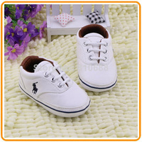 Free Shipping Newborn Spring and Autumn White Color Baby Boy Girl Artificial PU Toddler Shoes 11cm 12cm 13cm Kids First Walkers