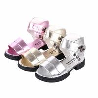Free Shipping 2014 girls sandals summer girls princess shoes children sandals children boots summer shoes