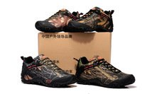 2014 camouflage couple hiking shoes, comfort breathable men's sneakers, anti-collision wear-resisting TPU for women's shoes