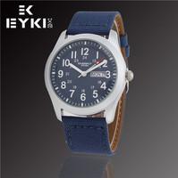 EYKI Brand Fashion Men Military Watches, Quartz Watch Canvas Outdoor Sports Calendar Clock, Waterproof Watches, Free Shipping