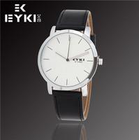 Hot Sale New Fashion EYKI Jewelry Luxury Brand Watches Men Business Casual Sports Waterproof Leather Quartz Watch W8410G