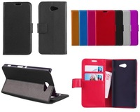 For Sony Xperia M2 Case, Luxury Wallet Leather Case for Sony Xperia M2 D2305 D2306 S50h With Credit Card Holder + Touch Stylus