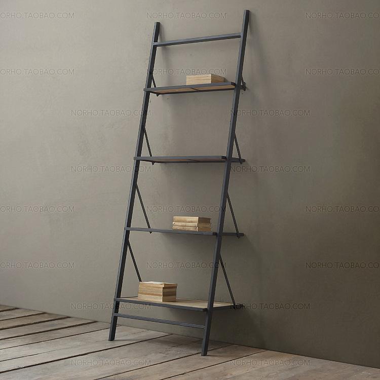 Amerikaanse land mijnbouw wind loft ijzer hout boekenkast display rack display creatieve anti - Boekenkast hout en ijzer ...