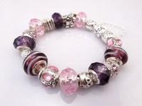 Hot!Free Shipping wholesale 925 Sterling Silver jewelry charms bracelet silver bracelet. crystal beads bracelet  Pp018