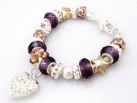 Hot!Free Shipping wholesale 925 Sterling Silver jewelry charms bracelet silver bracelet. crystal beads bracelet  Pp025