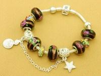 Hot!Free Shipping wholesale 925 Sterling Silver jewelry charms bracelet silver bracelet. crystal beads bracelet  Pp067