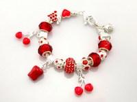 Hot!Free Shipping wholesale 925 Sterling Silver jewelry charms bracelet silver bracelet. crystal beads bracelet  Pp247