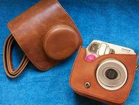Brown Leather Camera Case Bag Cover For Fujifilm Fuji Instax Mini 7 Mini 7s + Free shipping