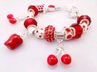 Hot!Free Shipping wholesale 925 Sterling Silver jewelry charms bracelet silver bracelet. crystal beads bracelet  Pp022