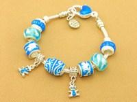 Hot!Free Shipping wholesale 925 Sterling Silver jewelry charms bracelet silver bracelet. crystal beads bracelet  Pp064
