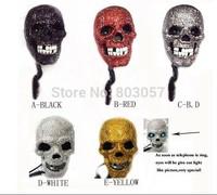 2014 Hot Free shipping(3pcs/lot) wholesale Fashion Halloween Skull rhinestone gift telephone