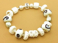 Hot!Free Shipping wholesale 925 Sterling Silver jewelry charms bracelet silver bracelet. crystal beads bracelet  Pp082