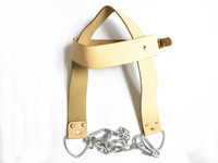 Leather Weight Lifting Gym Head Harness Neck Chains Strap Strength Training Belt Power Building