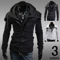 2014 Fashion Brand Men's Clothing,Double Layer Men's Zipper Hoodies Jackets Male,Sports Casual Men's Hooded Coats