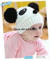 New Winter Children Knitted Hat Cartoon Lovely Panda Beanies Baby Winter&Autumn Hat Toddler Knitting Cap 10psc MZD-002