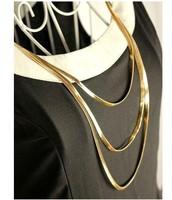 Three multi-metal Yi Gu Long necklace sweater chain accessories free shipping