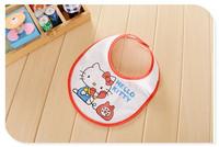 2014 Baby Bibs Babador Carters Baberos free Shipping Baby Waterproof Bib Cartoon Kitten Wear Infant Saliva Towels/burp Cloths