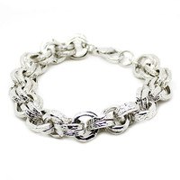 2014  Vintage silver beaded bracelet for wommen free shipping (B1-086)