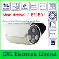 GXL,2 Megapixel HD IP Camera,720P, Array IR LED Lamp,3 EPLED, 0Lux,Outdoor Waterproof Security IP Camera CS71080IB-WL-I3H