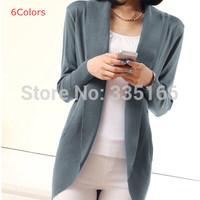 Elegant Women Cardigan Mid-long Plus Size Fashion Female Knitted Cardigans Sweater Coat Long Sleeve For Spring&Autumn  #JM06898