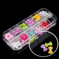 60pcs Fashion Acrylic 3D Nail Art Decorations Tips Glitter Decoration Butterfly Rhinestone Tools DIY