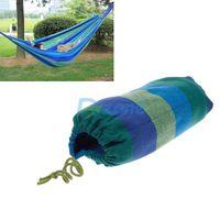Canvas Garden Hammock Outdoor Camping Portable Travel Beach Fabric Swing Bed #02#57734