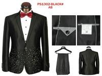 2014 Autumn New Men's Suits Trousers Fashion  Men's Casual sports suit Loose  Comfortable Men's suit Suits (Jacket + Pants)