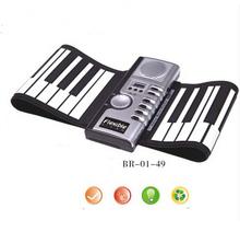 61 teclas USB Silicon Flexible Roll Up Eletrônico Teclado Piano MIDI Instrumento Musical Portátil Frete Grátis Eletrônica de Órgãos(China (Mainland))