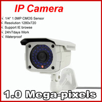 2014 Sale 1.0Megapixel onvif P2P 720p IP Camera 36PCS IR LEDS Waterproof HD Network Securiy CCTV Bullet Camera+Free shipping