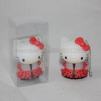 Lovely Cartoon 3D Hello Kitty USB Flash Drive,Hello Kitty-Themed Kitty Cat USB Memory Stick Thumb Drive 1GB 2GB 4GB 8GB 16GB