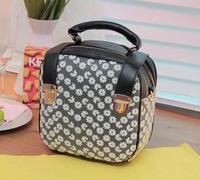New arrival 2014 fashion Korean style handbag lace PU small totes