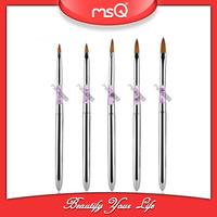 MSQ  5PCS/SET  Acrylic Holder Sable Hair Nail Brush Paintig Tool   Nail Art