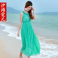 Bohemia beach dress fairy summer chiffon plus size one-piece dress full dress female
