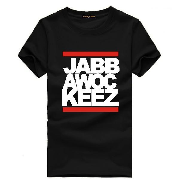 Nova Ver?o 2014 homens macho mulheres 100% algod?o de manga curta T -shirt do hip- hop camiseta populares dos homens JabbaWockeeZ máscara(China (Mainland))