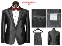 New 2014 Autumn New Men wedding suit, Men's Fashion Elegant Suit And Trousers Red Tie Men's Casual sports suit (Jacket + Pants)