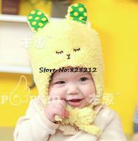 Plush Cartoon Rabbit Infant Hats Toddler Boys/Girls Gift Winter/Autumn Newborn Cap Baby Earflaps hat 10pcs Free Shipping MZD-046