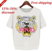 Very Beautiful 2014 Summer New European and American women's summer dresses Tiger Print loose T-shirt girl short sleeved shirt