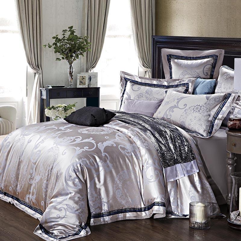 Aliexpress.com : Buy Quality jacquard satin luxury grey wedding ...