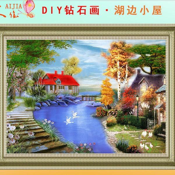 3D DIY Diamond Painting Rhinestone Cross Stitch Picture Home Decoration Decorative Wall Decor Scenery Customized American Style(China (Mainland))