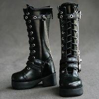 [wamami] 45# Black SD17 DZ70 70cm BJD Dollfie Synthetic Leather Boots/Shoes