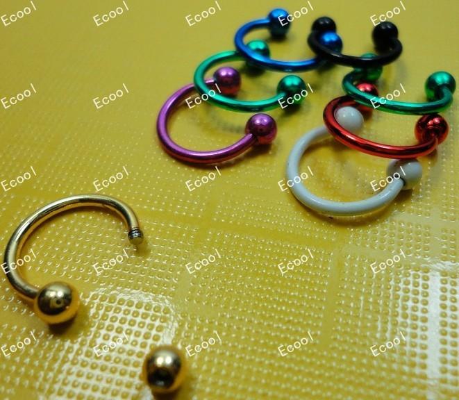 Free shipping 30pcs Jewelry lots Labret Lip Body Pierce Nipple Navel Belly Eyebrow Bar Rings LS337(China (Mainland))