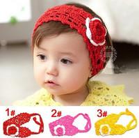 2014 New Arrive Baby Girl Crochet Headbands Handmade Hairband Headwear Kids Knitted Wool Head Accessories(5 pcs/lot) 3 Colors