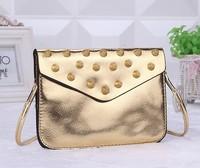 European and American fashion handbags wax Pixia quarter MINI metal wallet phone package small bag OL